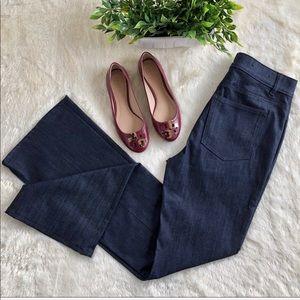 Ann Taylor dark wash high rise flare jeans 6